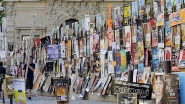 Dans les rues d'Avignon lors du festival en 2010.