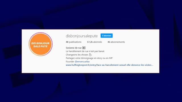 """La page """"Disbonjoursalepute"""" sur Instagram"""