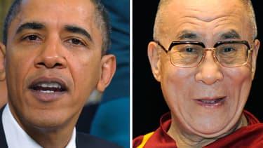 Barack Obama et le dalaï lama, montage.