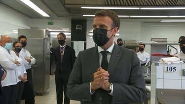 Emmanuel Macron dans la Drôme, le 8 juin.