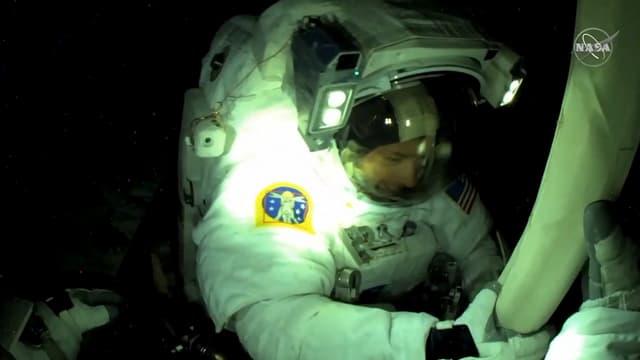 Thomas Pesquet lors de sa deuxième sortie dans l'espace, le 20 juin 2021