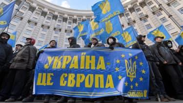 Les manifestants à Kiev le 2  décembre 2013.