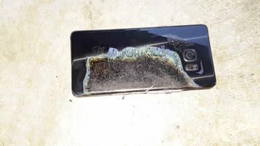 Le Samsung Galaxy Note 7 calciné