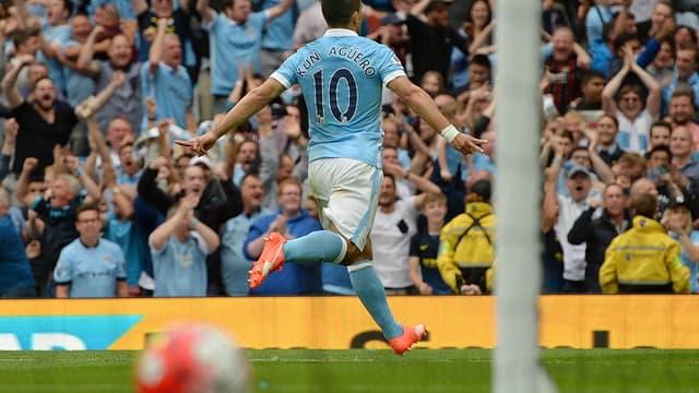 Kun Agüero, buteur avec Manchester City contre Chelsea