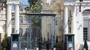 La grille du ministère de l'Intérieur, place Beauvau à Paris.