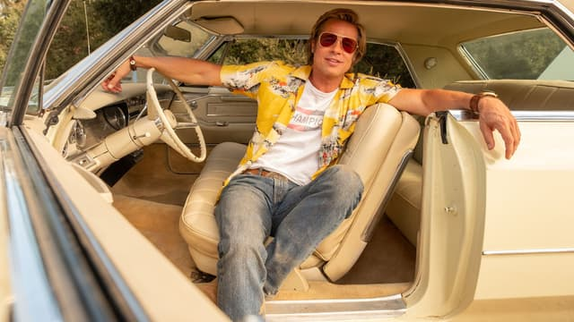 Brad Pitt dans Once Upon a Time ... in Hollywood de Tarantino