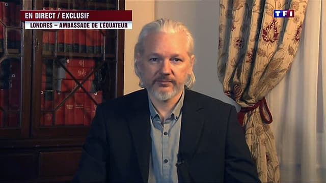 """Julian Assange avait déclaré sur TF1 que les Etats-Unis jouaient """"un sale jeu"""" avec la France."""