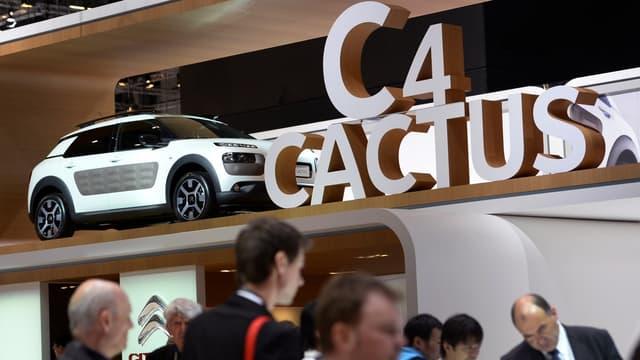 La Citroën C4 Cactus lors de sa présentation au public au salon de l'Auto de Genève en 2014.