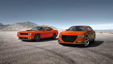 """Dodge a remis au goût du jour le orange """"Go Mango"""", créé en 1970, et le propose désor mais sur toute sa gamme."""