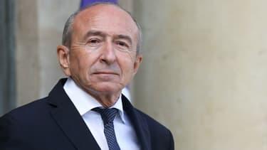 Gérard Collomb, alors ministre de l'Intérieur, dans la cour de l'Elysée le 19 septembre 2018