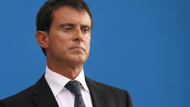 Le Premier ministre Manuel Valls le 29 août 2014, à Paris.
