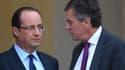 François Hollande et Jérôme Cahuzac, sur le perron de l'Elysée le 4 janvier.