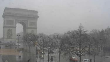 Les Champs-Elysées sous la neige