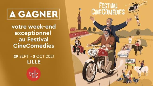 A GAGNER : VOTRE WEEK-END EXCEPTIONNEL AU FESTIVAL CINECOMEDIES A LILLE