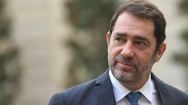 Le ministre de l'Intérieur Christophe Castaner arrive à l'Hôtel Matignon à Paris, le 25 novembre 2019