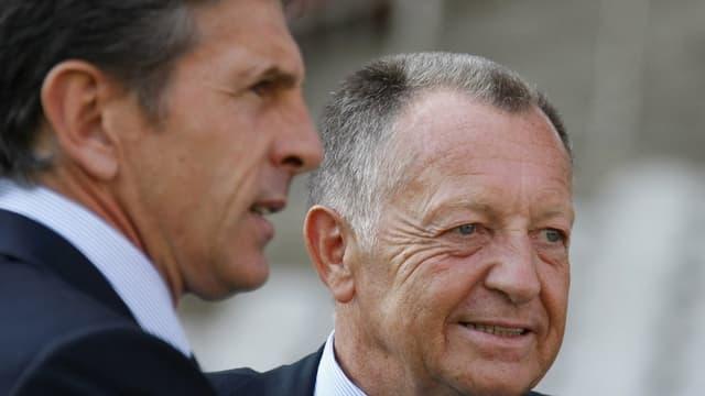 Jean-Michel Aulas et Claude Puel