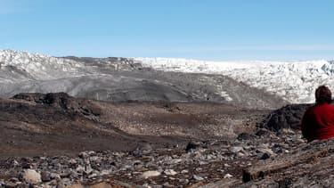 Sur la côte sud-ouest du Groenland, le lieu de la découverte réalisée par l'équipe de l'université de  Wollongong.