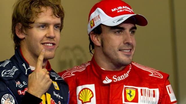 Vettel et Alonso, la première ligne du GP du Canada.