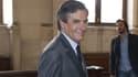 François Fillon arrive au tribunal le 28 mai.
