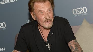 Johnny Hallyday en avril 2016.