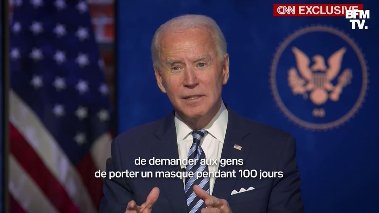 """Covid-19: Joe Biden veut demander aux Américains de """"porter un masque pendant 100 jours"""""""