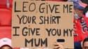 La pancarte d'un enfant pour PSG-Leipzig