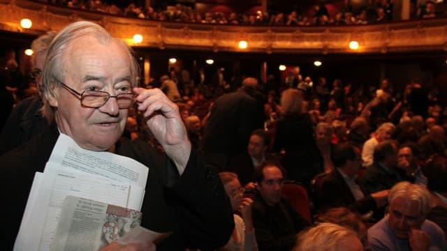L'ancien sénateur communiste Jack Ralite, au théâtre du Châtelet, en 2008.