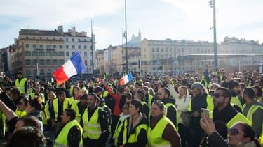 Des gilets jaunes à Marseille le 1er décembre.