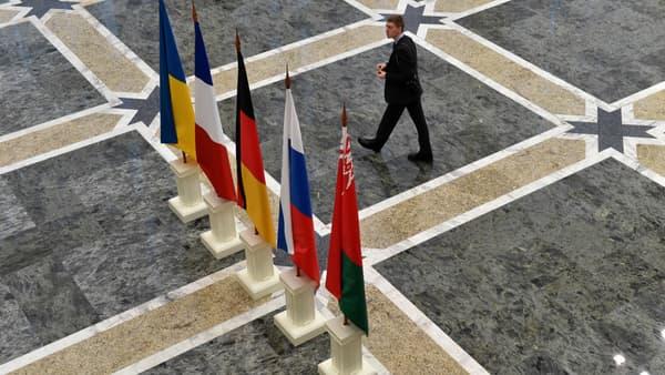 Le Palais de l'Indépendance, à Minsk, qui accueille ce mercredi soir les pourparlers de paix.