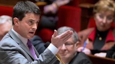 Manuel Valls s'exprimait devant des élus de la majorité PS.
