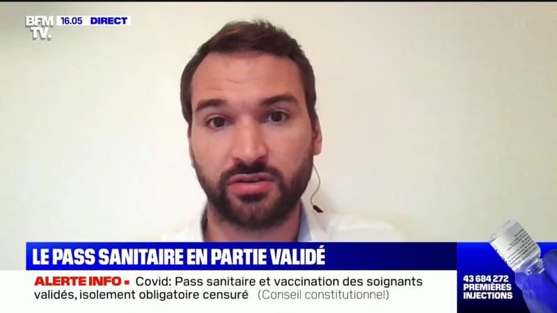 """Ugo Bernalicis sur le pass sanitaire: """"Je suis déçu de la décision du Conseil constitutionnel"""""""