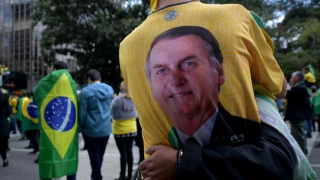 Des manifestants rassemblés pour exprimer leur soutien au président Jair Bolsonaro à Sao Paulo, au Brésil le 1er août 2021 (photo d'illustation)