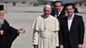 La pape François avec le Premier ministre grec Alexis Tsipras