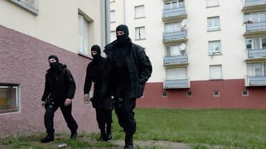 Le Raid lors d'une opération contre un djihadiste présumé à Strasbourg en mai 2014 (Photo d'illustration).