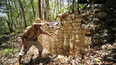 Une cité maya oubliée pendant des siècles dans la jungle a été récemment découverte dans l'est du Mexique par des archéologues qui espèrent recueillir des indices sur les causes de la disparition de cette civilisation il y a un millier d'années. /Photo pr