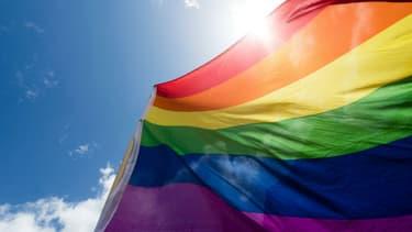 Un drapeau LGBT.