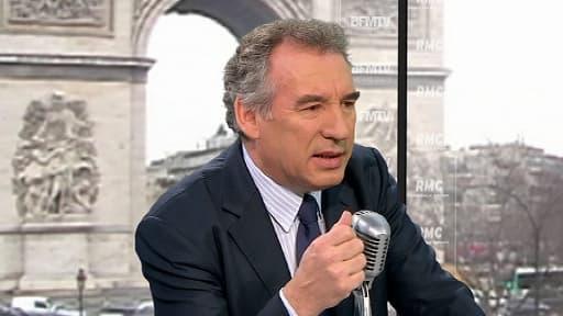 Le président du Modem François Bayrou, le 26 mars 2013 sur BFMTV/RMC