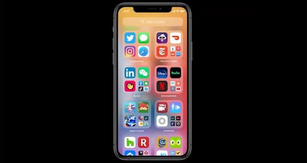 Capture d'écran d'iOS 14