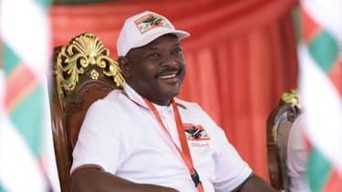 Le président burundais Pierre Nkurunziza à Gitega le 26 janvier 2020