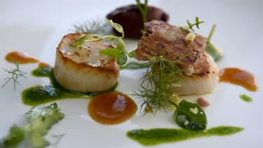 """Un plat gastronomique de """"L'Auberge des Glazicks"""", à Plomodiern le 25 janvier 2018. (Photo d'illustration)"""