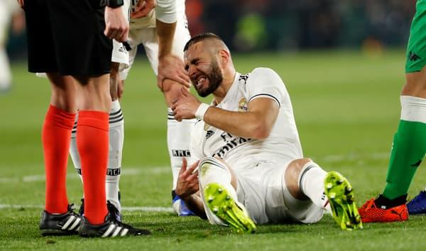 Karim Benzema après sa blessure contre le Betis
