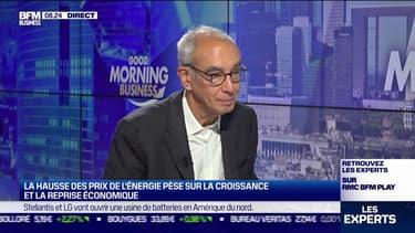 """Jean Pisani-Ferry (Économiste et professeur à Sciences-Po): """"On avait conçu la transition écologique comme un phénomène de très long terme. Maintenant, c'est en train d'arriver, ça perturbe de tas de manières notre économie"""""""
