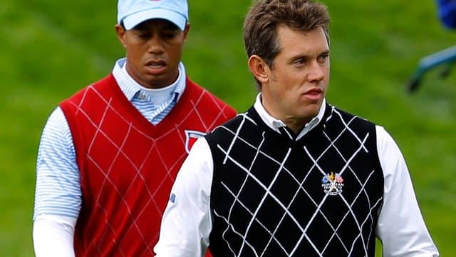 Tiger Woods et Lee Westwood