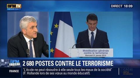 BFM Story: Plan Valls: 2680 postes seront créés pour lutter contre le terrorisme - 21/01