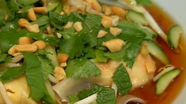 La recette des ravioles aux langoustines.
