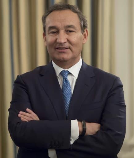 Le PDG de la compagnie aérienne United Airlines, Oscar Munoz, le 9 février 2017 à Washington