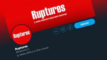 Capture d'écran du compte Twitter de Ruptures