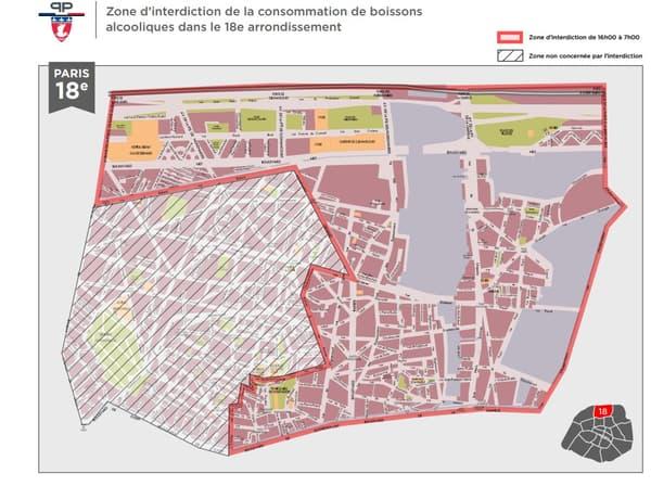 Les quartiers où la consommation et vente d'alcool sera interdite à partir d'une certaine heure