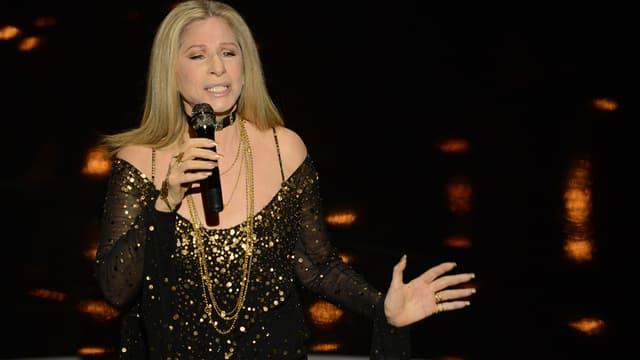 Barbra Streisand sur scène en février 2013