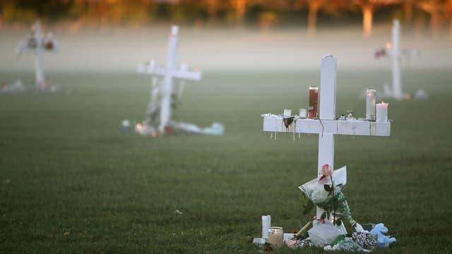 Un hommage aux victimes de la fusillade.